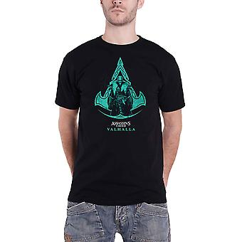 Assassins Creed Valhalla T Shirt Character Logo new Official Gamer Mens Black
