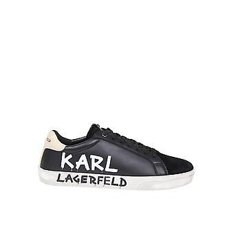 Karl Lagerfeld Kl51316300 Hombres's Zapatillas de cuero negro