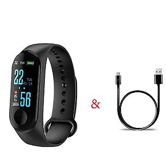 M3 Pro Smart Watch Sport Band Blood Pressure Monitor, Bracelet bracelet/femmes