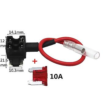 12v Mini Small Medium Size Car Fuse Holder Add-a-circuit Tap Adapter With 10a Micro Mini Standard Atm Blade Fuse