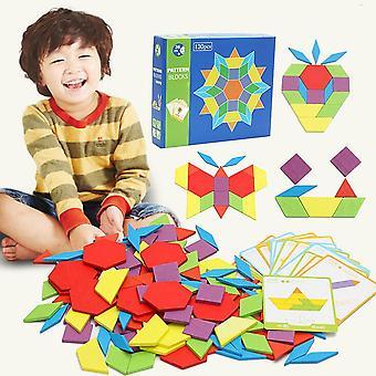 Bois, forme géométrique, blocs de modèle pour développer des enfants Iq