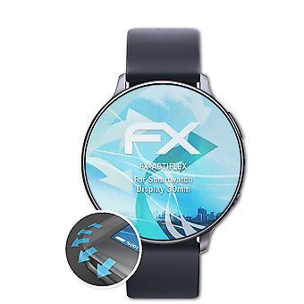 atFoliX 3x Écran protecteur compatible avec Smartwatch Display 30mm clair&flexible