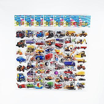 Engineering Vehicle Aircraft Style 3d Cartoon Stickers For Scrapbook Traffic