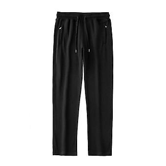 Άνδρες παντελόνι hip hop joggers μέση, παντελόνι casual μόδας -βασικό στερεό ελαστικό