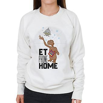E.T. Phone Home Looking At Spacecraft Women's Sweatshirt