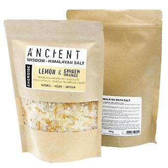 Himalayan Bath Salts Energise Blend With Lemon, Ginger & Orange 500g