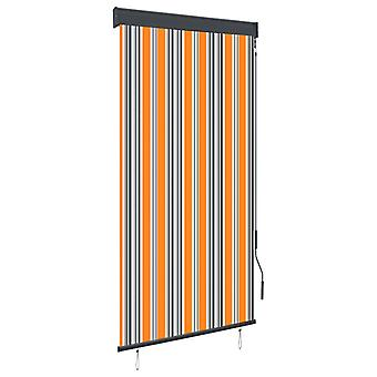 vidaXL outer roller blind 80 x 250 cm yellow and blue