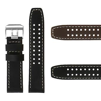 Strapsco dassari 23mm leather watch strap for luminox evo