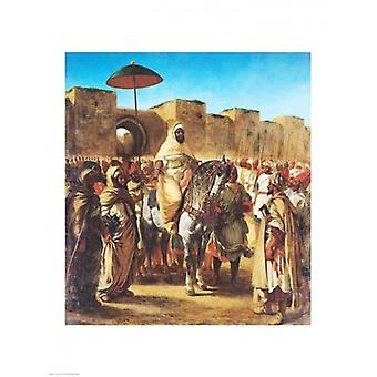 Muley Abd-ar-Rhaman The Sultan of Morocco Poster Print by Eugene Delacroix