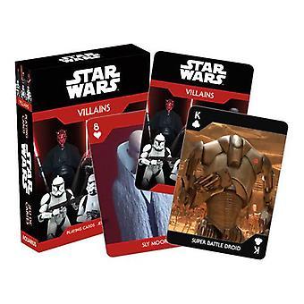 Star wars - dark side villains playing cards