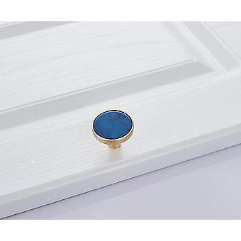 Blue Nordic Marble Shell Cabinet Handle, Knobs Cupboard Drawer