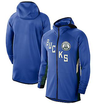 Milwaukee Bucks RoyalHunter 201920 Earned Edition Showtime Full Hoodie Top WY147
