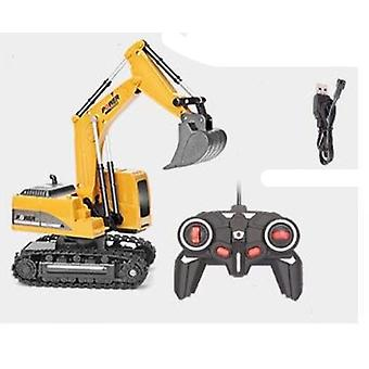 2.4ghz 6 Channel 1:24 Rc Engineering Excavator Toy