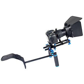 YELANGU YLG1102A-A Dual Handles Camera Shoulder Mount Kit with Matte Box for DSLR Camera / Video Camera