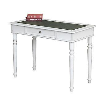Schreibtisch mit Ledertop