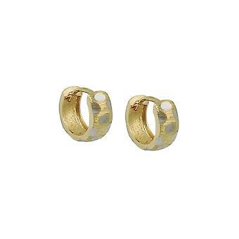 Hoop Earrings Bicolor 9k Gold