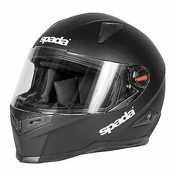 Spada RP900 Full Face Motorsykkel hjelm Matt Svart Beskyttende Hjelm Lokk