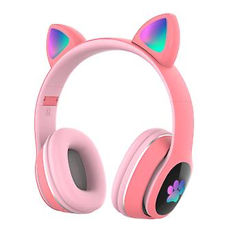 Foldable Over Ear Music Headset Glowing Cat Ear Headphones