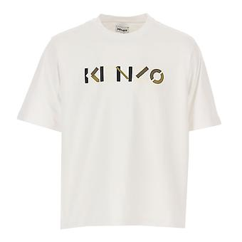   5ts055 4sk Colore Logo Stampa Oversize Mezza Manica T-shirt - Bianco