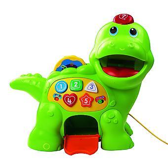 Vtech baby me alimentar dino | brinquedo musical bebê com números, contando música e formas | luz interativa