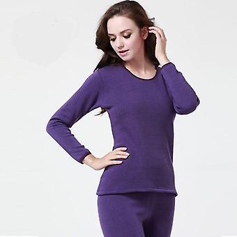 Warme dikke herfst winter thermal ondergoed sets Velvet O Nek lang ondergoed