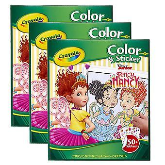 Color & Sticker Book, Fancy Nancy, Pack Of 3