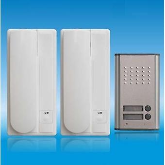 Home Security 2-draads audiodeurtelefoon, ontgrendelfunctie met 2-knoppen