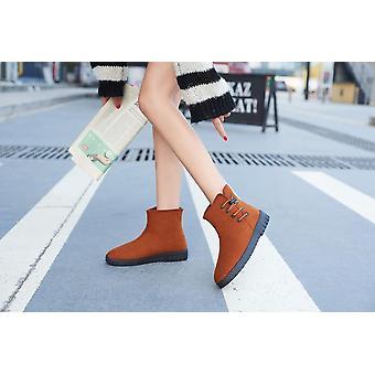 Comfortable Women Shoes, Winter Warm Fur Flat Creepers Soft Heel