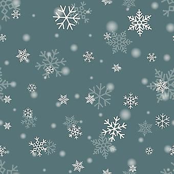 Bedrukt Tapijt Sneeuwvlokken Veelkleurig in Polyester, Katoen, L100xP150 cm