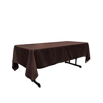 La Leinen Polyester Poplin Rechteckige Tischdecke 60 von 144-Zoll, braun