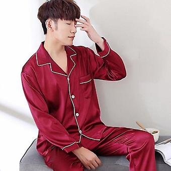 Male Stain Silk Pijama Set, Pijamale de mătase, Sleepwear, Smart Soft Suit, Home