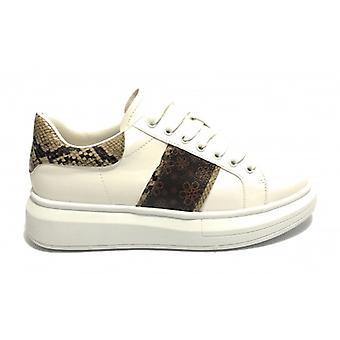 Women's Shoes Sneaker Zon Zeppa Gold&gold White Faux Leather/ Python D20gg59