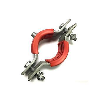Galvanised Mild Steel Munsen Type Bossed Pipe Pipe Clip M10 Boss For 32 Nb Pipe (od 42.4)