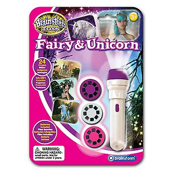 Brainstorm toys fairy and unicorn torch and projector fairy & unicorn