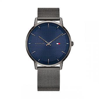 Tommy Hilfiger Watch 1791656-pulseira de aço de malha azul dial Milanese