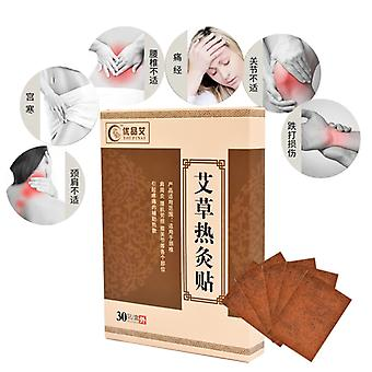 30pcs Warm Moxibustion Plaster Wormwood Detox Patches Herbal Medicine Paste Shoulder/Neck/Back/Waist Pain Relieve Health Care