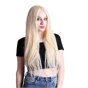 شعر مستعار women & apos;s متوسط الطول شعر مستعار مستقيم طويل البيج
