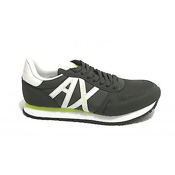 Sneaker Running Armani Exchange Micro Suede/ Nylon Mesh Army Green Us21ax11 Xux017