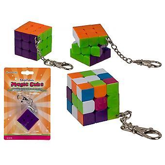3x3 Stickerless Speed Cube Med Avtagbar Nyckelring