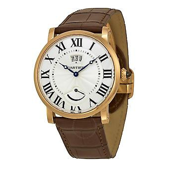 Cartier Rotonde de Cartier Silver Dial 18kt Rose Gold Herrklocka W1556252