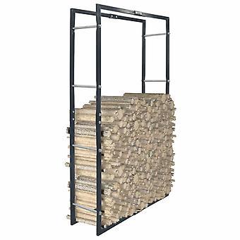 Brennholzregal Schwarz 80x25x150 Cm Stahl