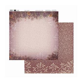 Couture Creations - Bleknande pansies 12x12 tum dubbelsidiga förpackningar med 10 ark