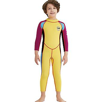 Kids wetsuit long sleeve one piece uv protection thermal swimsuit dfse-22