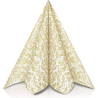 Servietten Gold | Stoffhnlich [50 Stck] | Hochwertige goldene Tischdekoration fr Weihnachten,