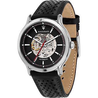Maserati R8821138002 Men's Legend Automatic Black Strap Wristwatch