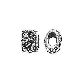 Metallinen ämmä, Jardin Barrel 7,5mm, 2 kpl, Antiikki hopea päällystetty, By TierraCast