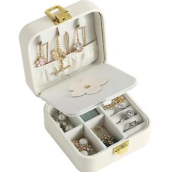 Jewelry box necklace earrings rings watch travel accessories case c10
