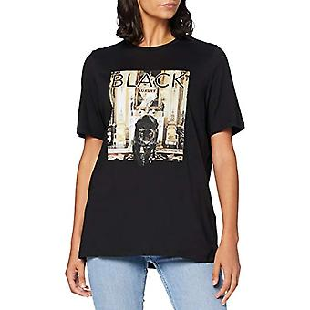 PIECES Pccasy SS Tee D2d T-Shirt, Print: Panther, M Woman