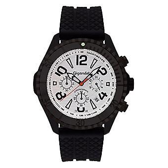 Gigandet Aquazone Reloj para hombres Cuarzo Cronógrafo analógico Fecha Negro Plata G23-003