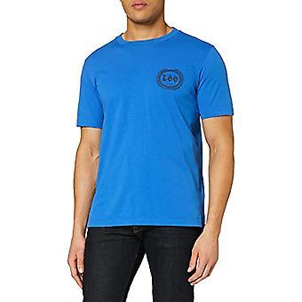 Lee Emblem Tee T-Shirt, Blue (City Blue 32), X-Large Men